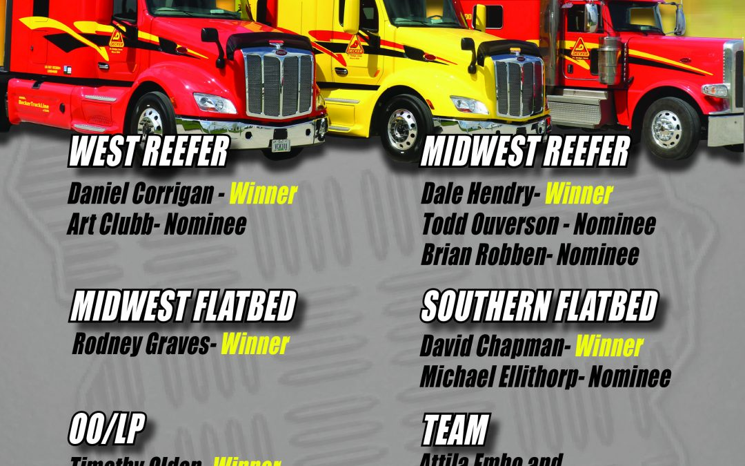 2019 May Drivers of the Month (7/22/2019)