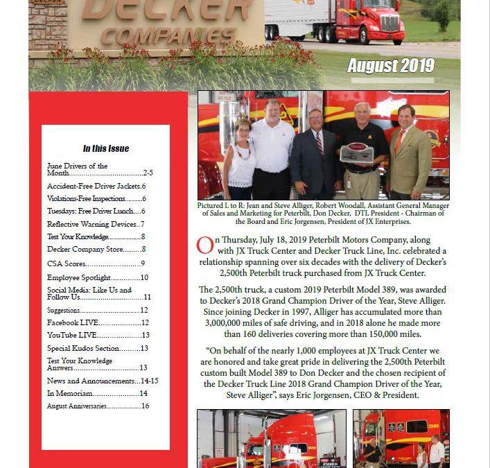 2019 August Newsletter (8/14/2019)